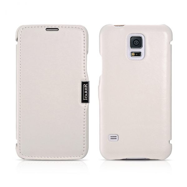 Чехол iCarer для Samsung Galaxy S5 Luxury White (side-open)