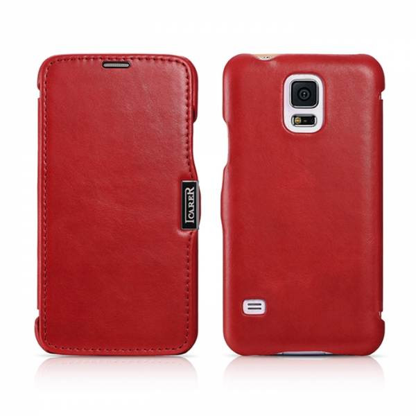 Чехол iCarer для Samsung Galaxy S5 Vintage Red (side-open)