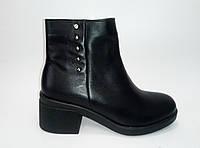 Женские кожаные демисезонные ботинки ТМ Santini, фото 1