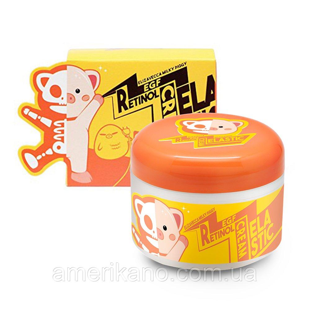 Омолаживающая крем-маска для лица с ретинолом и EGF ELIZAVECCA Milky Piggy EGF Retinol Cream, 100 мл
