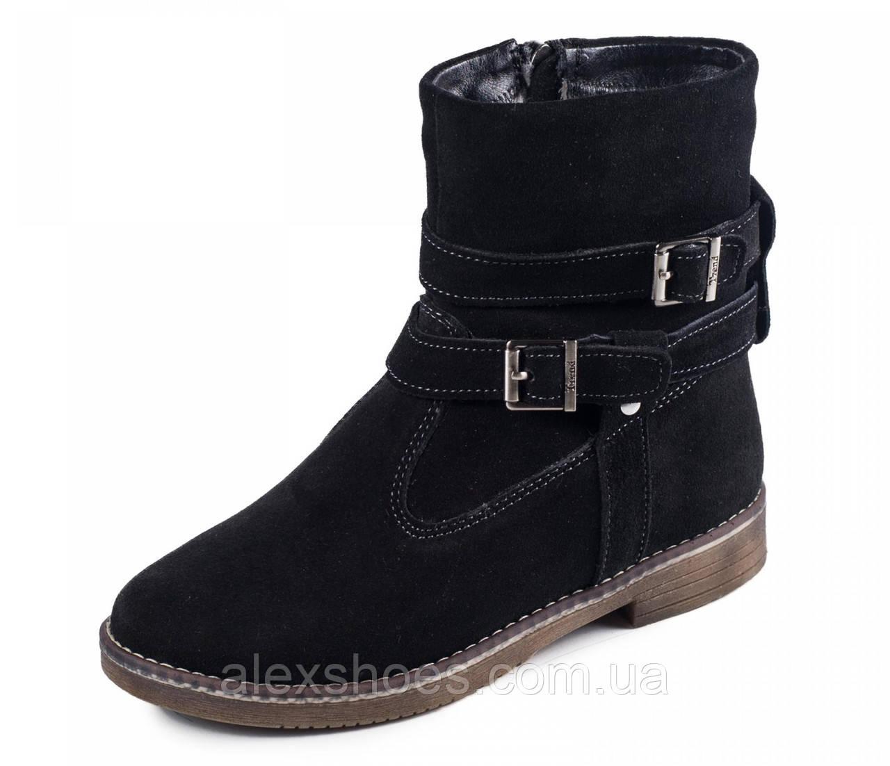 Ботинки подростковые для девочки из натуральной замши от производителя модель МАК112