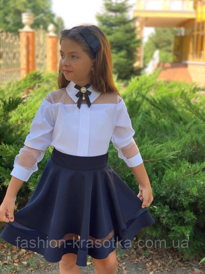 Модная детская юбка,ткань мадонна,размеры:128,134,140,146.