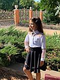 Модная детская юбка,ткань мадонна,размеры:128,134,140,146., фото 3