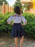 Модная детская юбка,ткань мадонна,размеры:128,134,140,146., фото 4