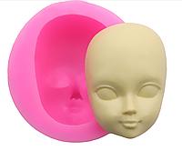 """Молд силиконовый """"Лицо куклы 4"""", 5*4,7*2см, готовый продукт 4,4*3*1,9см."""