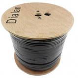 Dialan 3C2V Cu 0.5мм (экран 48*0.1мм Cu) + 2x0,5 Econom (с питанием) 75 Ом Чёрный 305 м, фото 2