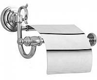 Тримач для туалетного паперу з кришкою Kugu Versace 211C, Хром, фото 1