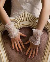 Свадебные коротенькие перчатки (П-к-9)