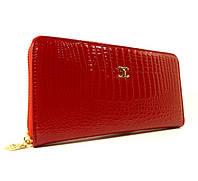Кошелек женский кожаный на молнии Chanel  9046 красный лаковый, расцветки в наличии