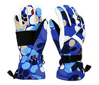 Перчатки горнолыжные женские Moon Scout размер M-L синий-белый