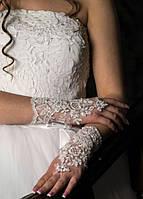Свадебные коротенькие перчатки (П-к-12)