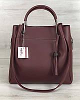 Молодіжна сумка Рамона бордового кольору, фото 1
