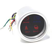 Дополнительные индикаторы 4в1 (ручн.тормоз+рем.безопасн.+двери+доп.свет) 4402 DGT диодный Ø52мм автомобильные приборы и датчики
