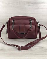 Стильна жіноча сумка Хлоя бордового кольору, фото 1