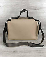 2в1 Стильна жіноча сумка Маліка кремового кольору, фото 1