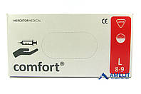 """Перчатки латексные Комфорт (Comfort, Mercator Medical), размер """"L"""", опудренные, 50пар/упак."""