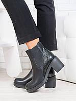 Ботинки женские натуральная кожа каблук- качественная женская обувь от украинского производителя