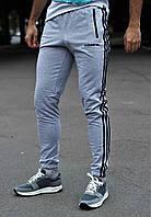 Мужские серые спортивные штаны адидас