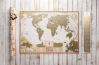 Скретч карта мира My Map Antique edition ENG в тубусе, фото 1