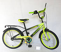 Велосипед детский колесо диам.20 дюймов Велосипед зеленый