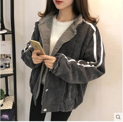 Женская  вельветовая курточка  на меху