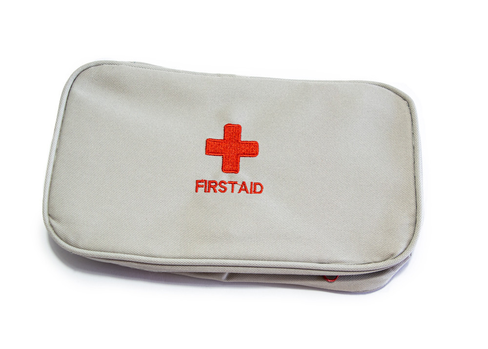 Домашняя аптечка-органайзер для хранения лекарств и таблеток First Aid Pouch Large Серый