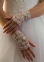 Свадебные коротенькие перчатки (П-к-19)