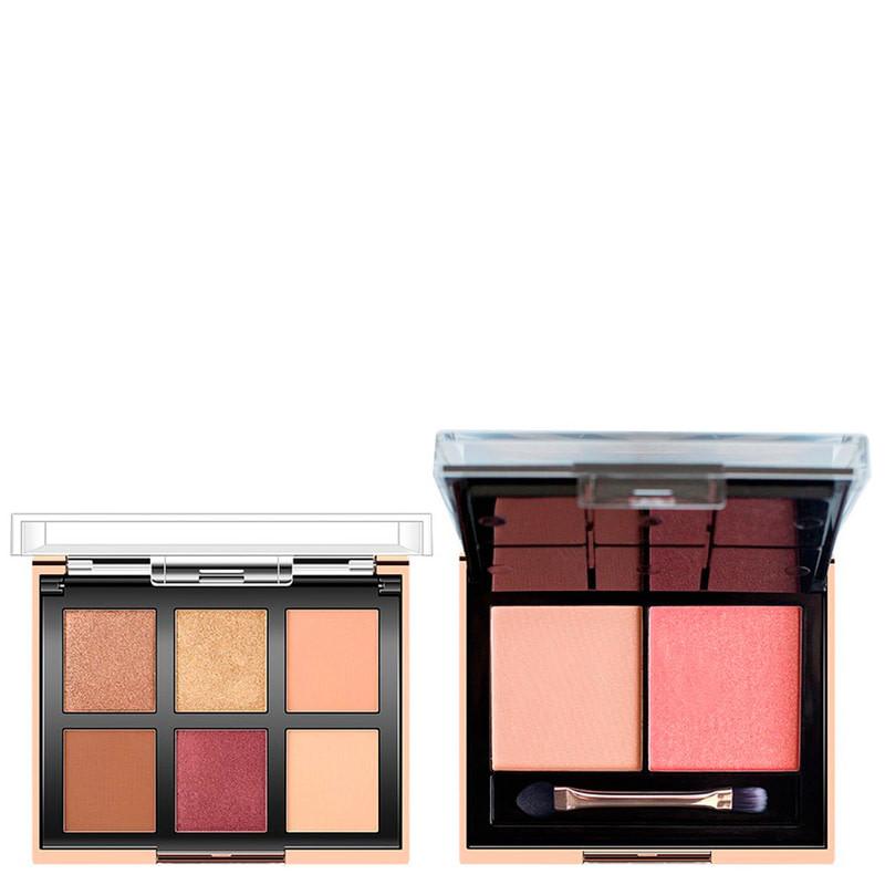 Набор теней и румян O.TWO.O 6 Color Eyeshadow & 2 Blush Face Palette, 03, 25 г