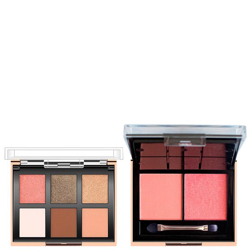 Набір тіней і рум'ян O. TWO.O 6 Color Eyeshadow & 2 Blush Face Palette, 01, 25 г