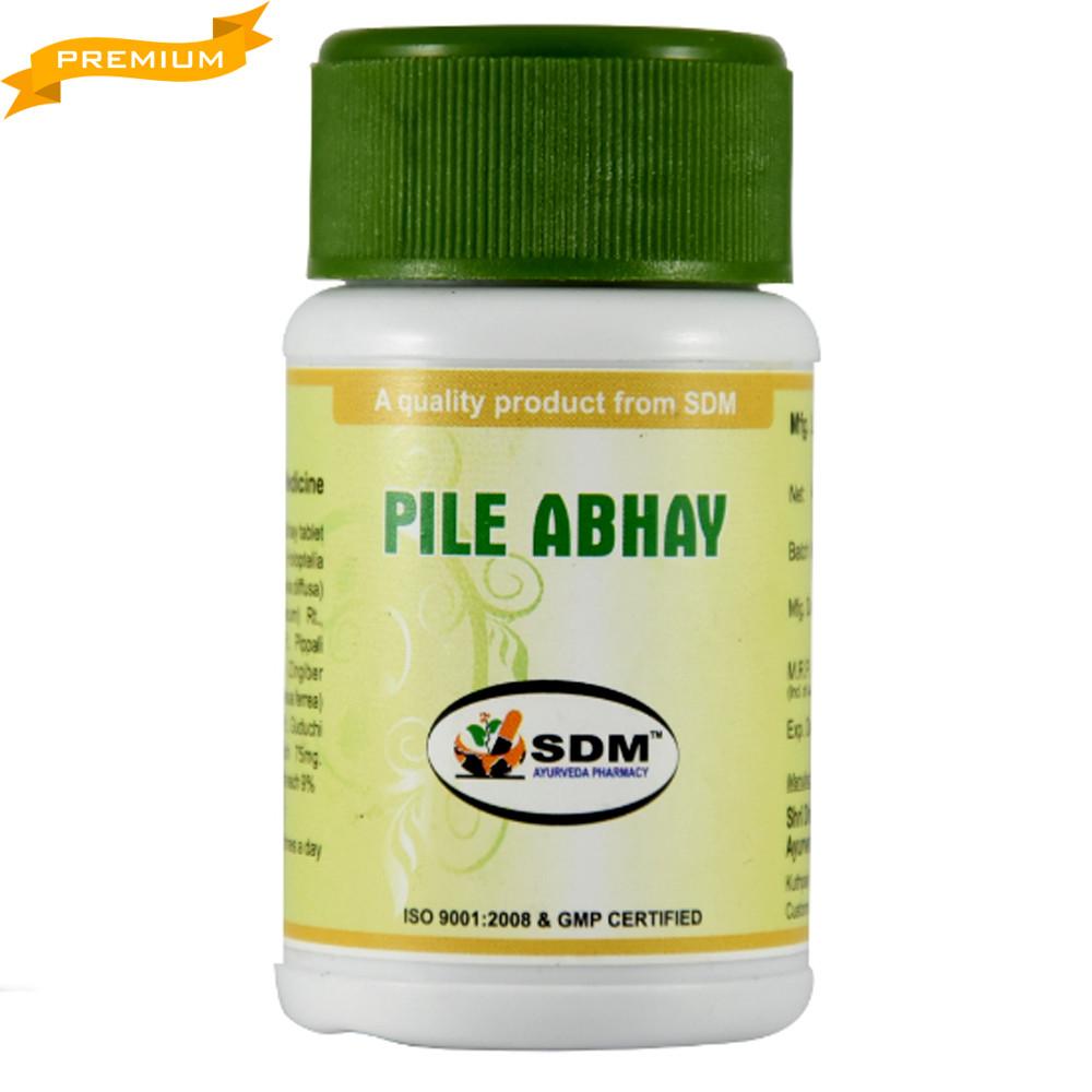 Пайл Абхая (Pile Abhay, SDM), 40 таблеток по 750 мг - при варикозе, геморрое, тромбофлебите, проктите