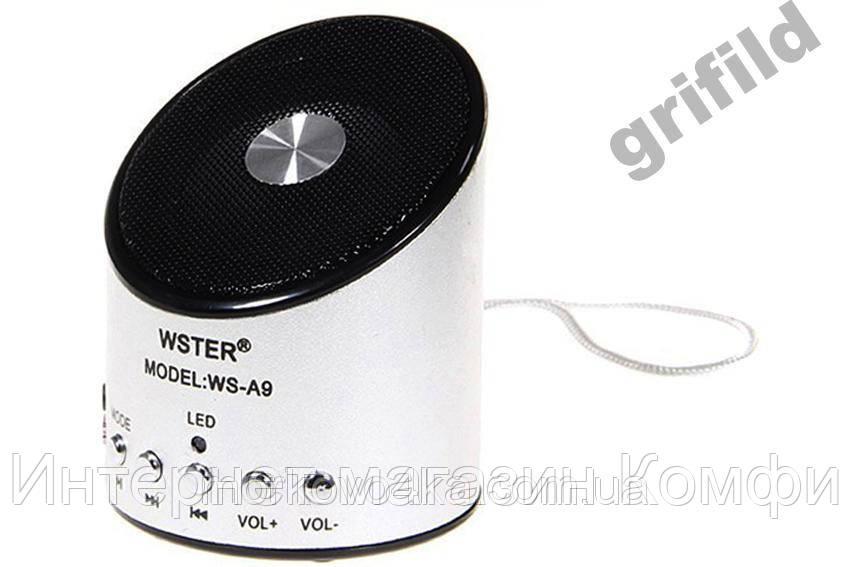 🔥✅ Мини портативная MP3 колонка от USB FM A9 Silver