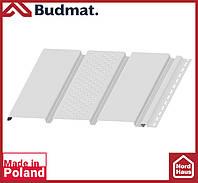Софит Budmat ( белый ). Панель будмат 3 х 0,34 м. Софит перфорированный.