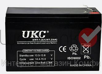 🔥✅ Аккумулятор UKC 12V 7.2Ah WST-7.2