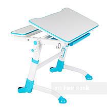 Растущая парта-трансформер FunDesk Volare Blue+ Детский стул SST3L Blue, фото 3