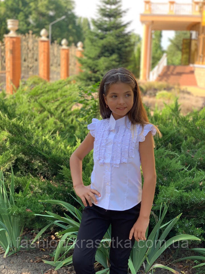 Детская блуза,ткань хебе рубашка,размеры:122,128,134,140.
