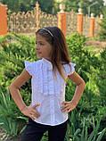 Детская блуза,ткань хебе рубашка,размеры:122,128,134,140., фото 3