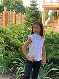 Детская блуза,ткань хебе рубашка,размеры:122,128,134,140., фото 4
