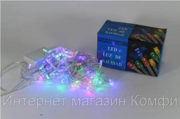 🔥✅ Новогодняя многоцветная гирлянда LED 200 M ( 200 светодиодов ) светодиодная
