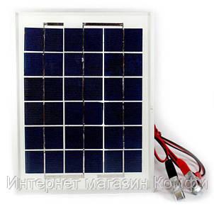 🔥✅ Универсальная солнечная панель Solar board UKC 5W 9V со щупами 250x190x17 мм