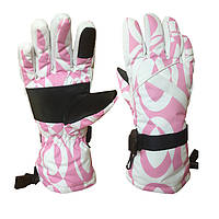 Перчатки горнолыжные женские Moon Scout размер M-L белый-розовый