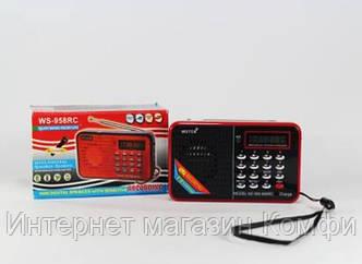 🔥✅ Компактная портативная колонка MP3 USB SPS WS 958 SD карт для мобильного подключения