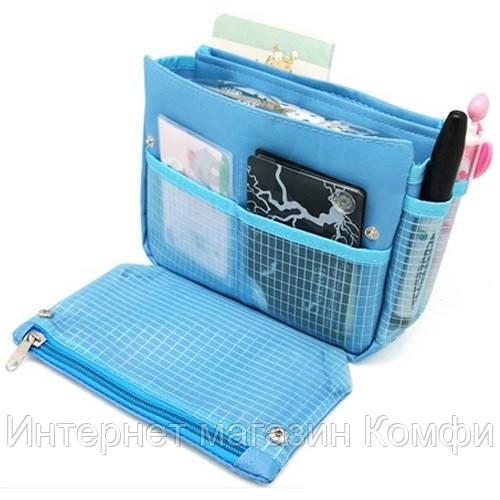 🔥✅ Органайзер для сумки сумка в сумке Blue