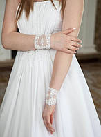 Свадебные коротенькие перчатки (П-к-33)