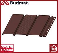 Софит Budmat ( темно коричневый ). Панель будмат 3 х 0,34 м. Софит перфорированный.
