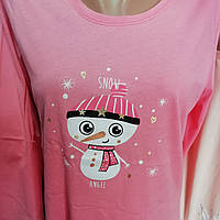 Пижама женская футболка с длинным рукавом и брюками, Vienetta, турецкий трикотаж, размер М.