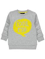 Свитшот серый Cool Kid George (Англия) р.92/98, 104/110, 110/116