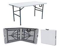 Пластиковый раскладной стол для пикника, кейтеринга (прямоугольный)Рейвон 1200х600 мм