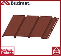 Софит Budmat ( коричневый ). Панель будмат 3 х 0,34 м. Софит перфорированный.