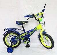 Велосипед детский колесо диам.16 дюймов Велосипед желто-синий