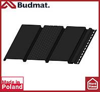 Софит Budmat ( черный ). Панель будмат 3 х 0,34 м. Софит перфорированный.